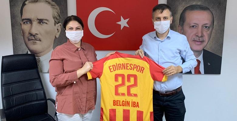 Edirnespor heyeti AK Parti İl Başkanı İba'yı ziyaret etti