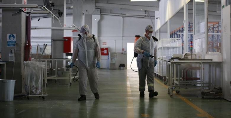 Fabrikalara dezenfekte…