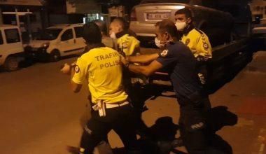 Polise direnen alkollü sürücü gözaltına alındı