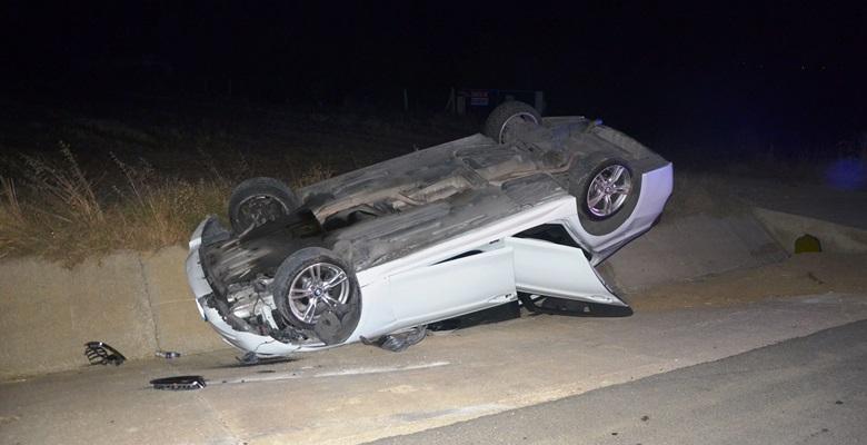 Malkara'da kaza! Takla attı…