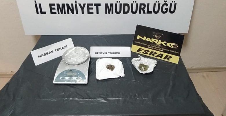 Uyuşturucu operasyonlarında 5 tutuklama