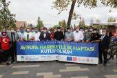 Başkan Yüce bisikletseverlerle şehir turuna katıldı