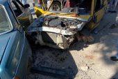Bilecik'te 1 kişinin yaralandığı trafik kazası güvenlik kamerasında