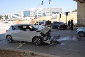 İki otomobil çarpıştı… 2 yaralı