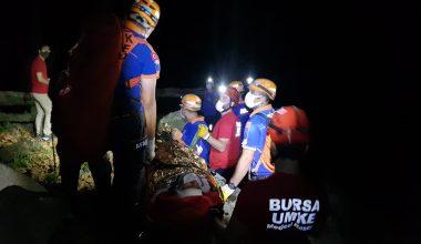 Dereye düşerek yaralanan kişiyi ekipler kurtarıldı