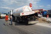 Tır'la LPG tankerinin çarpıştığı kazada, 1 kişi yaralandı