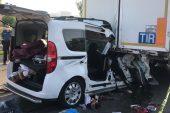 Düğün hazırlığı yapan çifti trafik kazası ayırdı