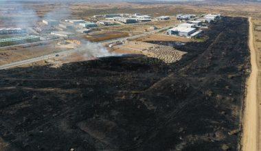 Edirne'de korkutan yangın! OSB binalarına kadar geldi…