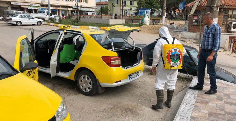 Süloğlu'nda özel araçlar ücretsiz dezenfekte ediliyor