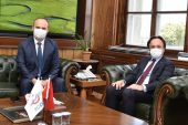 Edirne Valisi Canalp, TCDD Genel Müdürü Uygun'u ziyaret etti
