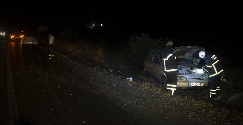 Edirne'de iki otomobilin çarpıştığı kazada 3 kişi yaralandı