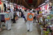 Edirne'de tarihi çarşılar dezenfekte ediliyor