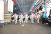 """Edirne'de turistlerin ilgi gösterdiği """"pazar"""" düzenli dezenfekte ediliyor"""