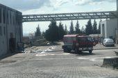 Ergene'de fabrikada yangın!