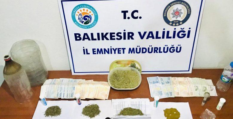 Gönen'de uyuşturucu şüphelisi tutuklandı
