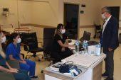 Başkan Helvacıoğlu'nun hastane ziyareti