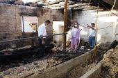 İl Tarım ve Orman Müdürü Yoldaş'tan ahırları yanan çiftçiye ziyaret