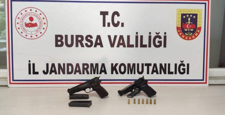 İnegöl'de havaya ateş açan 2 kişi yakalandı
