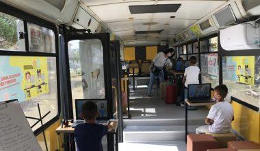 İnternet sıkıntısı yaşanan kırsal mahallelere mobil eğitim araçlarıyla hizmet götürülüyor