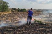 İpsala'da çıkan anız yangını söndürüldü