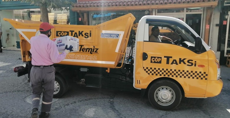 Çöp taksiden, vatandaş memnun…!