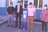 Keşan'da Meslek Liselerinde üretilen pedallı dezenfektan ünitesine ilgi büyük…
