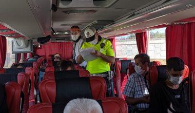 Keşan'da otobüslerde HES kodu denetimi
