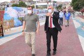 Başkan Helvacıoğlu ve AK Parti ilçe başkanı Kılınç'ın Tekirdağ çıkarması