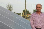 Köye 80 güneş paneli birden…