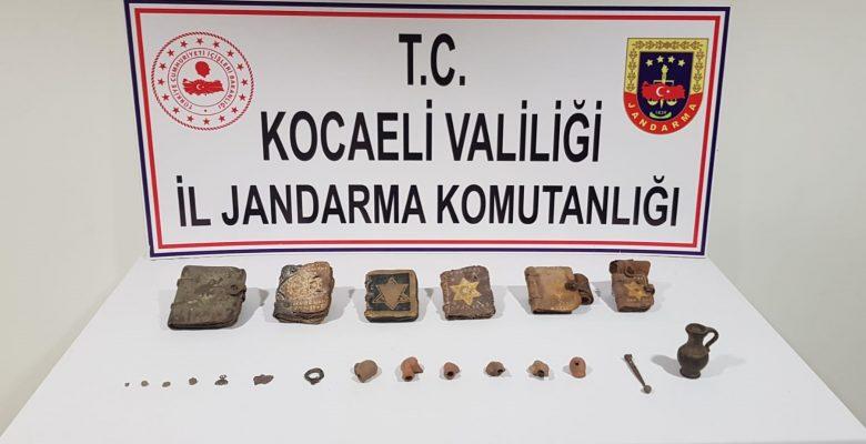 Kocaeli'de tarihi eser kaçakçılığı operasyonu: 5 gözaltı