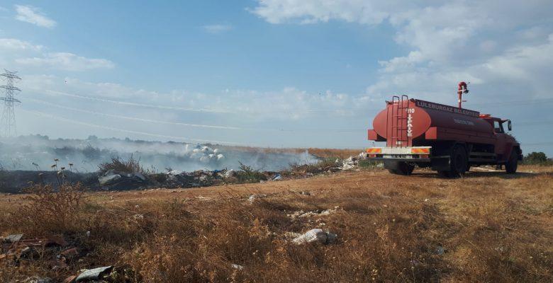Lüleburgaz'da çöplük yangını
