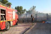 Lüleburgaz'da otluk alan yangını