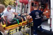 Malkara'da devrilen motosikletin sürücüsü yaralandı