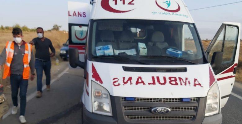 Malkara'da trafik kazasında 1 kişi yaralandı