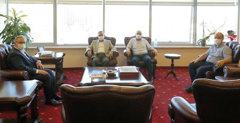 Saadet Partisi'nden Rektör Tabakoğlu'na ziyaret
