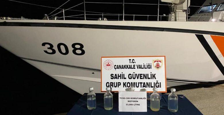 Saros Körfezi'ndeki denetimlerde 23 bin litre kaçak motorin ele geçirildi