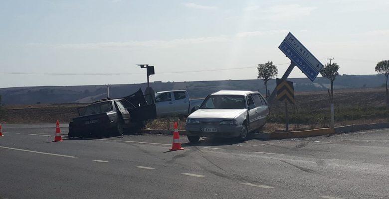 Muratlı'da Kaza…! 3 yaralı