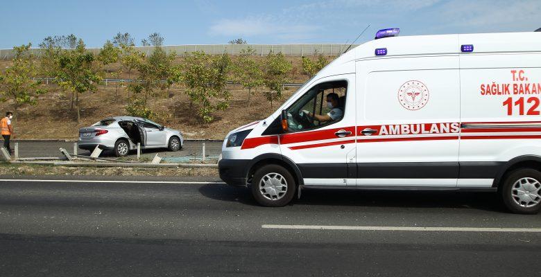 Çerkezköy'de trafik kazası… 1 yaralı