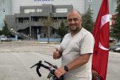 Türk tarihini ve kültürünü tanıtmak için pedal çeviriyor