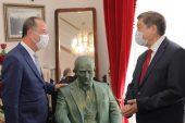 TÜRKSOY Başkanından Recep Gürkan'a ziyaret…