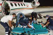 Uçak ambulans 18 yaşındaki genç için havalandı