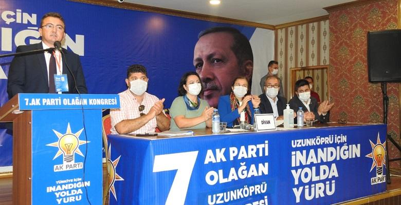 AK Parti Uzunköprü kongresinde Bilgin yeniden başkan…
