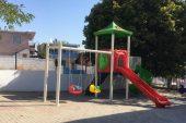 Uzunköprü'de okul bahçesine oyun parkı