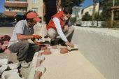 Pınarhisar'da yol yapım çalışması