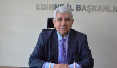 """MHP Edirne İl Başkanı Tercan: """"Hiç kimseyi ayırmadan herkesten oy isteyeceğiz"""""""