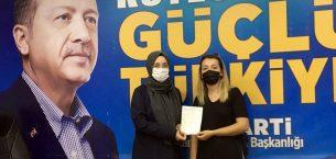AK Parti İlçe Kadın Kolları yeni üye çalışmalarına hız verdi