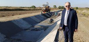 Nedret Akbulut Altınyazı barajının kanal çalışmalarını değerlendirdi…