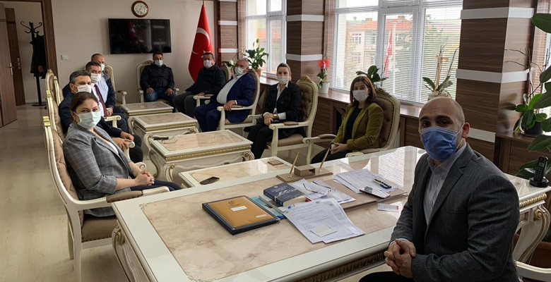 KEFEK Başkanı Aksal ve Başkan İba'nın Lalapaşa ziyareti