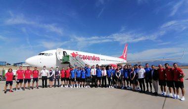 Altınordu FK, Corendon Airlines'ın özel takım uçağıyla Adana'ya uçtu