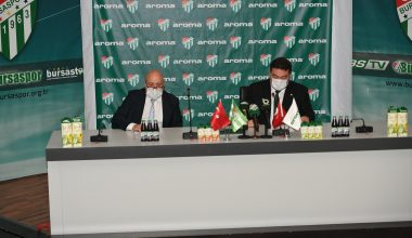 Aroma, Bursaspor'a sponsor oldu